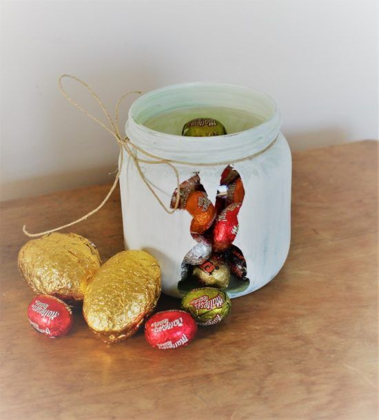 With Easter nearly here and a lot of chocolate soon to be consumed, an alternative to the Easter basket is the treat jar. Make one for the whole family or if you have lots of jars then make one for each person. These jars are a great way to recycle old jars too. Supplies 1…