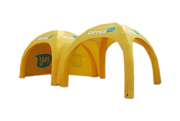 Inflatable marquee for Optus. Side-view.