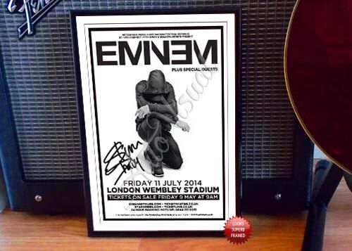 Eminem 2014 London Concert Flyer Autographed Signed Photo Print by Autovisual on Etsy https://www.etsy.com/listing/249080696/eminem-2014-london-concert-flyer