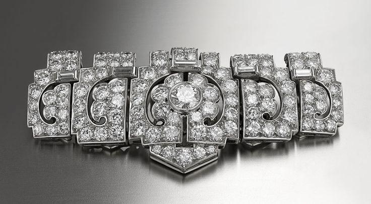 Bulgari   Brooch   Platinum with Diamonds   1935