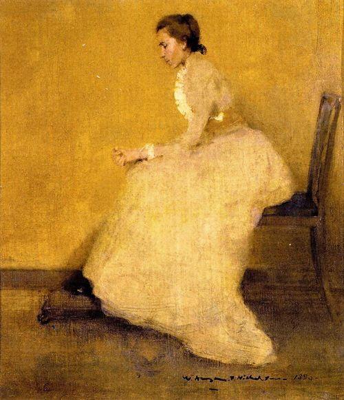 Lady In Yellow By Sir William Nicholson English 1872