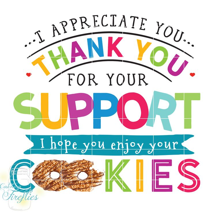 This Adorable Thank You Design, Plus Over 28 PNGs of Girl Scout Cookie Clip Art! Cookie Puns and Marketing Materials for ONLY $4.99