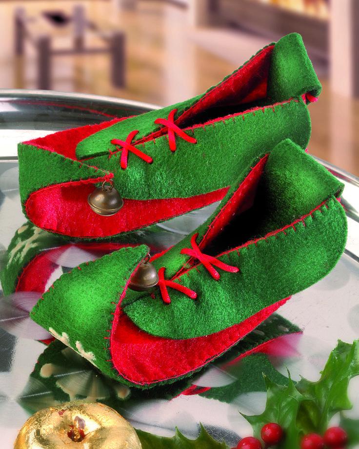 Kleiner Muck-Schuhe aus Filz - Weihnachten - Dekoration