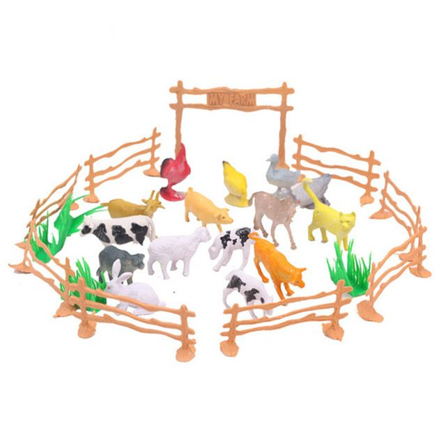 Nova Chegada 15 pçs/lote Simulação Animal de Fazenda Mini Figura de Ação Brinquedos de Crianças Jogo Brinquedo Crianças Presentes do Brinquedo Puzzle Educação