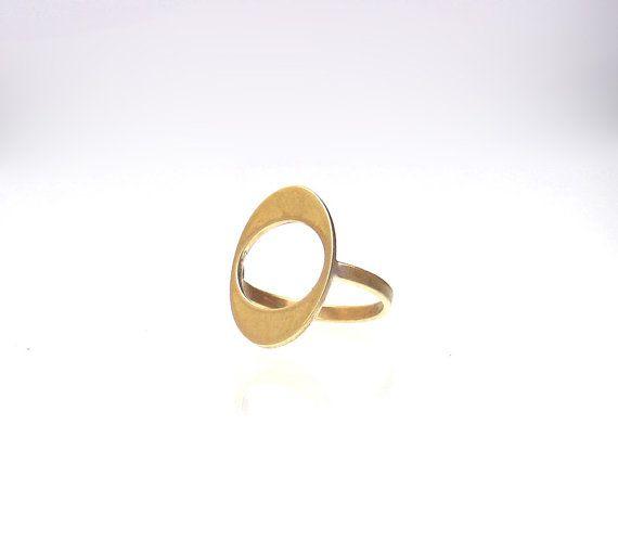 Oval Midi Ring  Minimal Midi Ring  High Fashion by profoundgarden