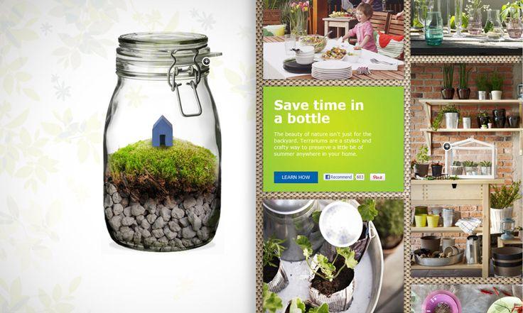 Terrarium - Ikea - very cool idea!