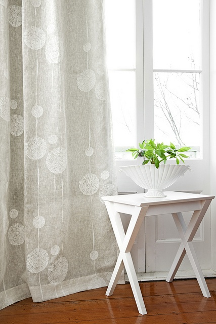 Sea Urchins Sea Fog - Curtain by Hemptech Textiles, via Flickr