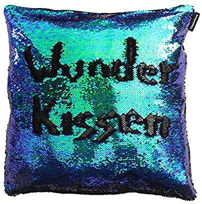 Wunderkissen - Das Original, Kissenbezug mit Pailletten, Paillettenkissen Mermaid Pillow, 1000 Kissen in Einem, 50x50cm, Farbe Mermaid