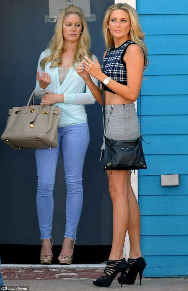 On the hunt: Stephanie Pratt, 28, and her sister-in-law Heidi Montag, 27, were spotted fil...