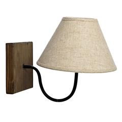WOODEN/METAL WALL LAMP IN BEIGE COLOR 14X27X23