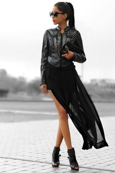 Total black :-) (by Aibina  Yeshkeeva) http://lookbook.nu/look/3415619-Total-black