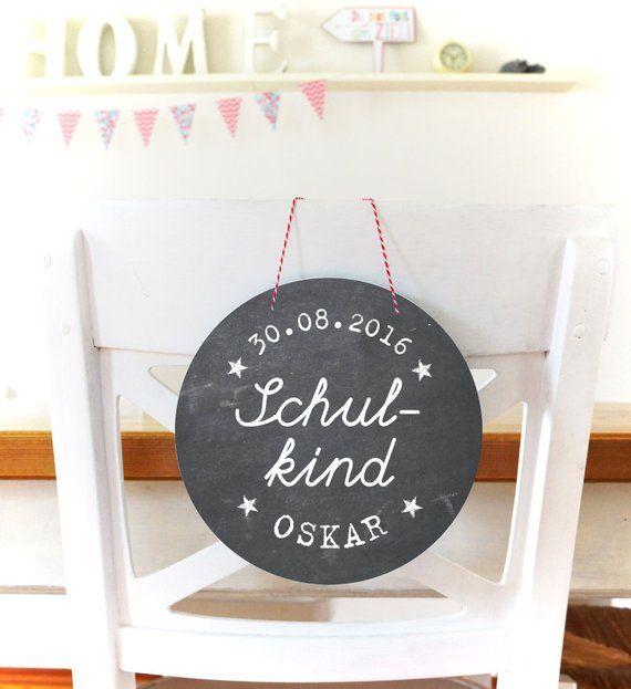Schulkind Türschild mit Namen Einschulung Tafel Dekoration Schulstart Erster Schultag Schild Schule Einschulungsdekoration Deko