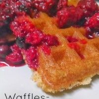 Tender Tangy Gluten Free Waffles with Berry Sauce