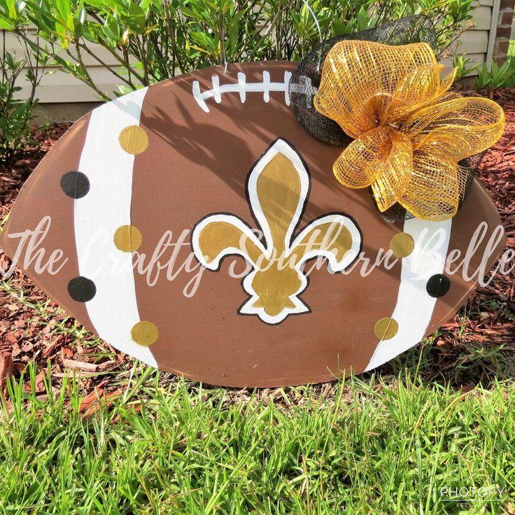 Le Fleur De Lis Football Door Hanger, Football Door Hanger, Le Fleur De Lis, Saints Door Hanger, New Orleans