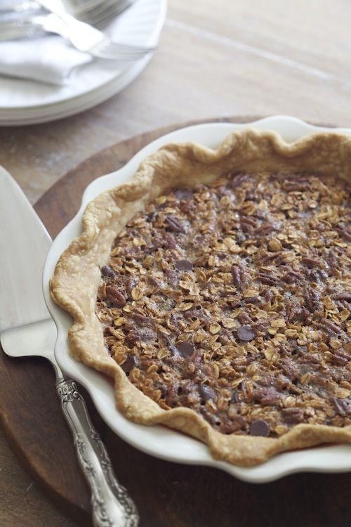 Oatmeal Chocolate Chip Pecan Pie: Thanksgiving Dessert from @Alison Lewis