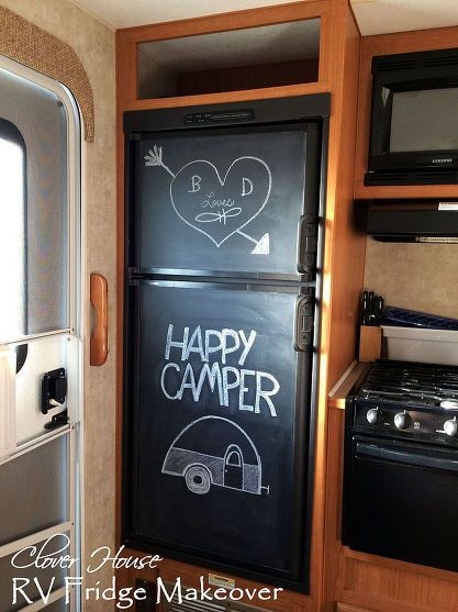 Paint Your Ugly RV Fridge With Chalkboard Paint                                                                                                                                                      More