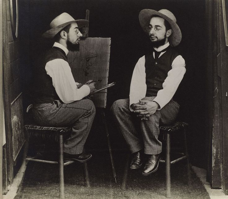 Maurice Guibert (French, 1856-1913)  Henri de Toulouse-Lautrec as Artist and Model  c. 1900  Gelatin silver print  Philadelphia Museum of Art