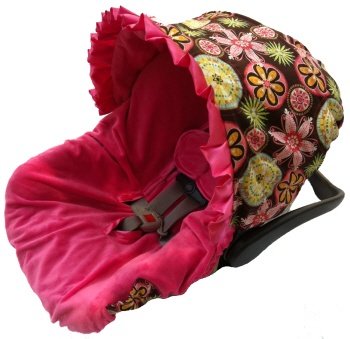 Carnival Bloom Infant Car Seat Cover from Posh Little Shop