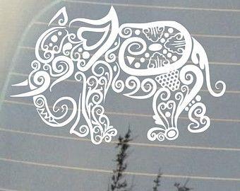 decorativeelephant car window decal