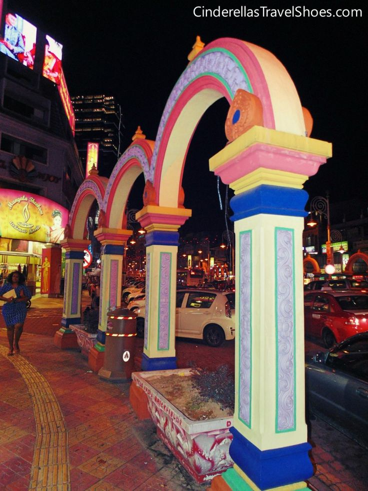 Walking on the main street of Little India in Kuala Lumpur