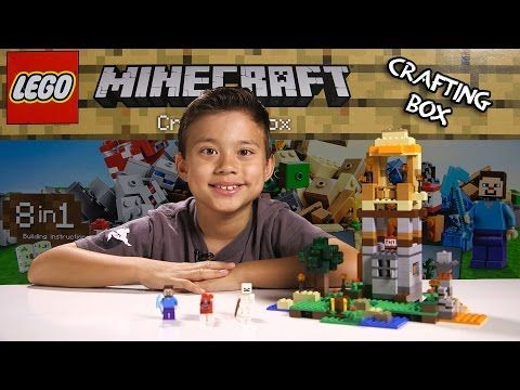 LEGO MINECRAFT - Set 21116 CRAFTING BOX- Unboxing, Review, Time-Lapse Build…