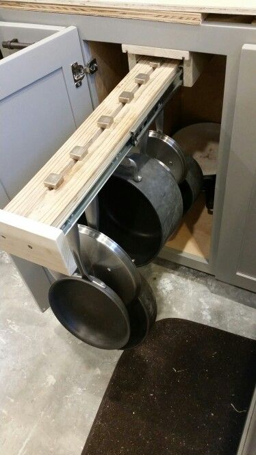 Our DIY sliding pot rack