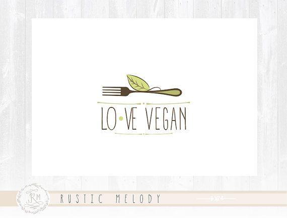 Good food Logo Design Vegan Logo Natural Food by RusticMelody1