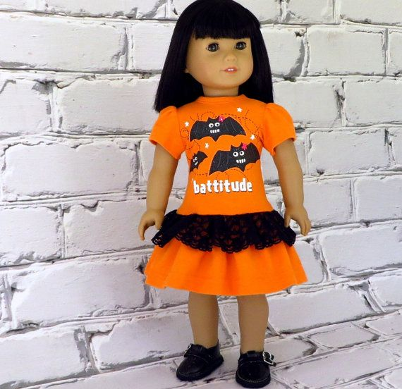 Battitude Halloween Dress American Girl Doll by SewFunDollClothes, $26.00