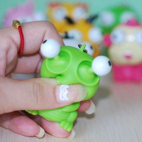 재미 만화 동물 벤트 압박 눈 감압 장난감 인형 키 펜던트 개그 및 실용 농담 장난감