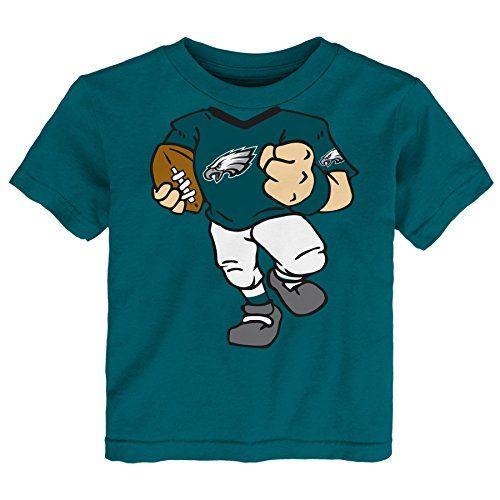 """NFL Philadelphia Eagles Toddler Boys """"Dream Football"""" Short Sleeve Tee, 2T, Eagle Green  http://allstarsportsfan.com/product/nfl-philadelphia-eagles-toddler-boys-dream-football-short-sleeve-tee-2t-eagle-green/  Front of Football player on front Team logo on front Back of Football player at back"""