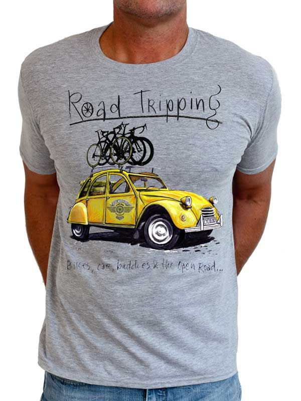 Road Tripping II - another cool tee in this great series from Cycology. #cycling, #t-shirts