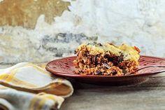 Quinoa lasagna in the crockpot