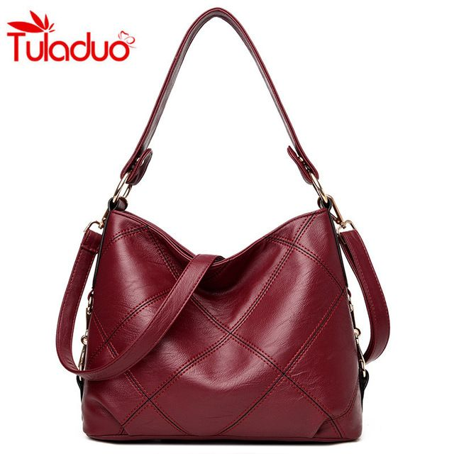 New Price $18.72, Buy Thread Luxury Hobos Women Handbags 2017 Fashion Plaid Women Shoulder Bags Soft Leather Bag Sac a Main Ladise Crossbody Bag Totes