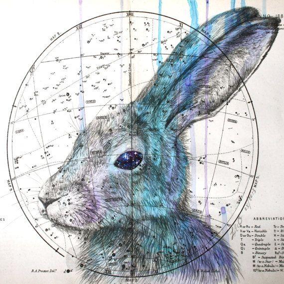 Louise McNaught ~ Celestial Hare