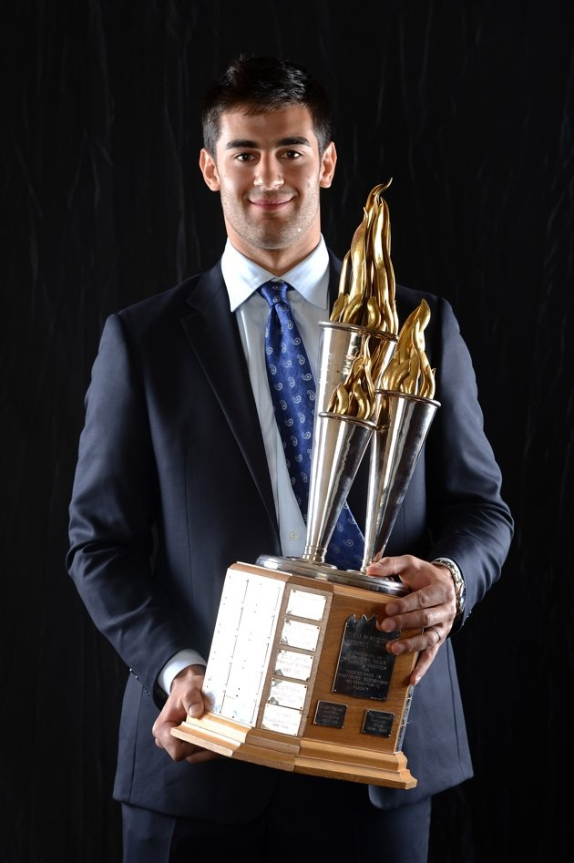 Max Pacioretty of the Montreal Canadiens poses after winning the Bill Masterton Memorial Trophy ----> should've gone to Lupul ;)