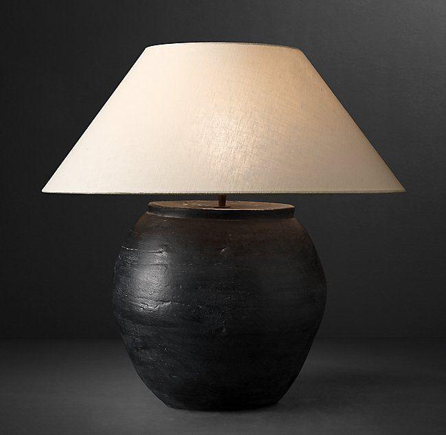 Dutch Ceramic Vessel Table Lamp Wine Pot Lamp Table Lamp Dutch Ceramic