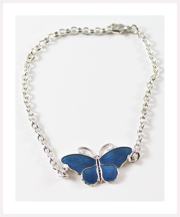 Enamel butterfly bracelet.