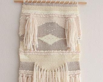WEAVING Wall Hanging/ Woven Wall Hanging Fiber Art Wool