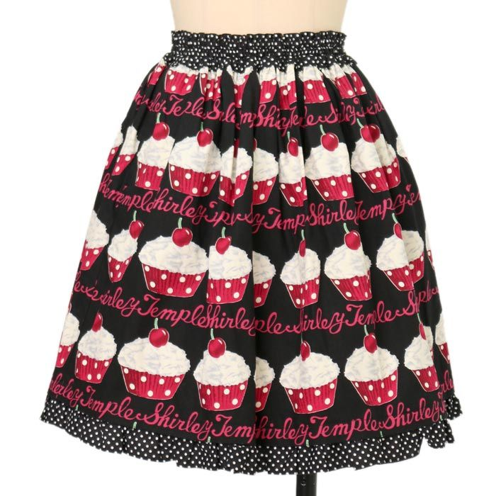 カップケーキプリントスカート ロリィタファッションshirly Temple   シャーリーテンプル ロリータ ゴスロリ服・古着の通販はワンダーウェルト