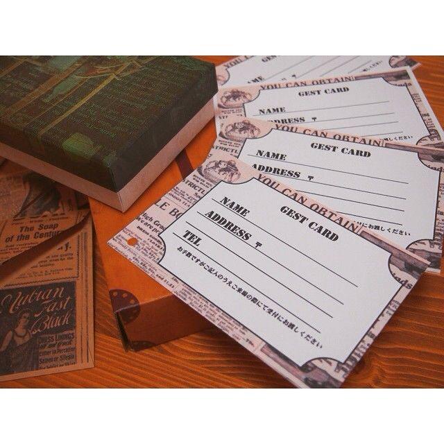 芳名帳の代わり*招待状と一緒に送る『ゲストカード』を作ると良いこといっぱい♩にて紹介している画像