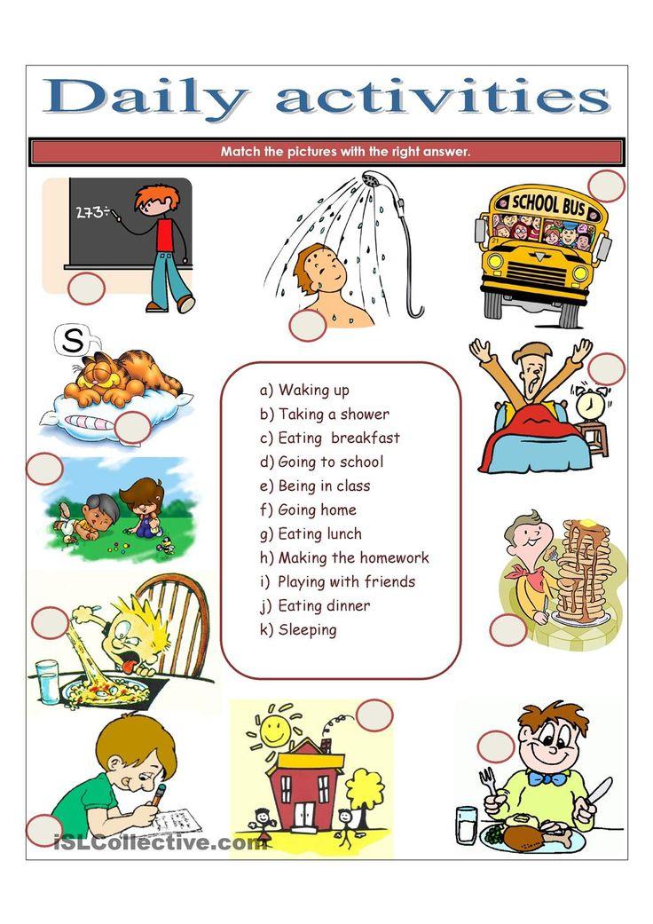 DAILY ACTIVITIES Enseignement, Pédagogie, Ecole