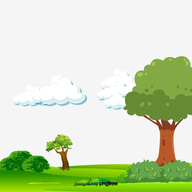 Lush Green Trees On A Landscape Painted Cartoon Grass Cartoon Meadow Hand Painted Scenery Green Grass Png Transparent Clipart Image And Psd File For Free Dow Cartoon Grass Cartoon Trees Landscape