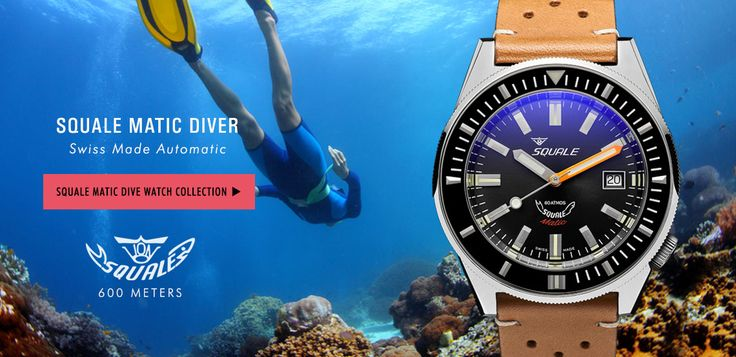 Squale Matic 600 Meter Dive Watches