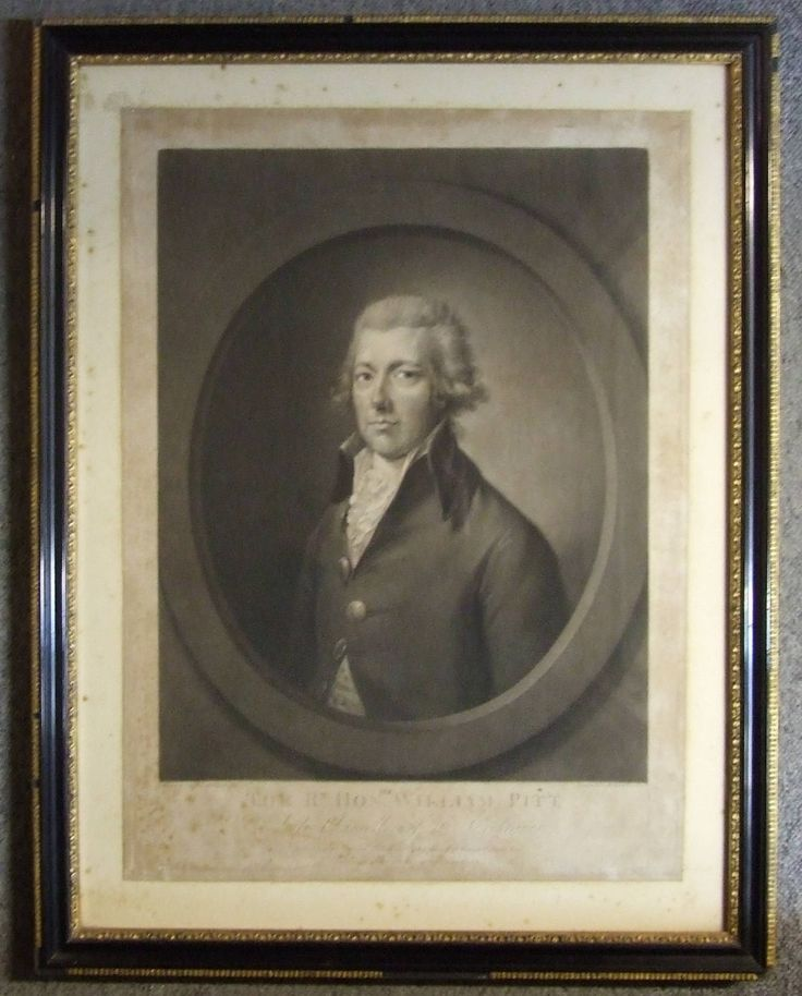 Antique mezzotint print The Rt. Hon.William Pitt  Late Chancellor of the Exchequer after Gainsborough-Dupont Richard Earlom 1806  + freight by ElegantPossessions on Etsy