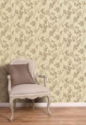 Arthouse Eco Divine Motif Taupe Wallpaper, 405704