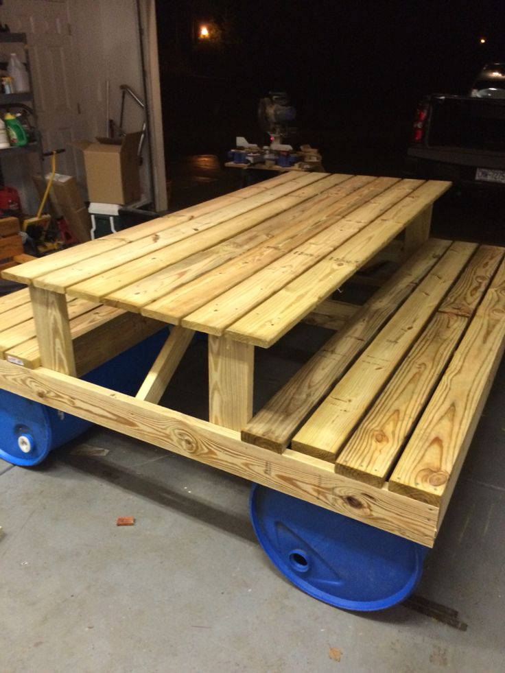 17 Best Images About Picnic Table Boat On Pinterest