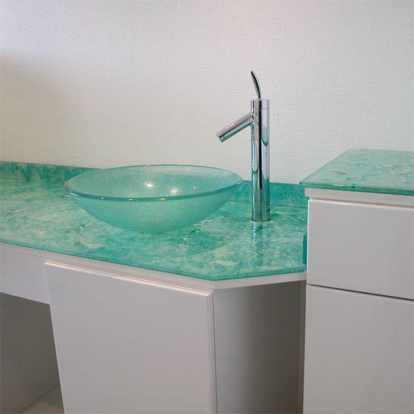 Glaswaschbecken