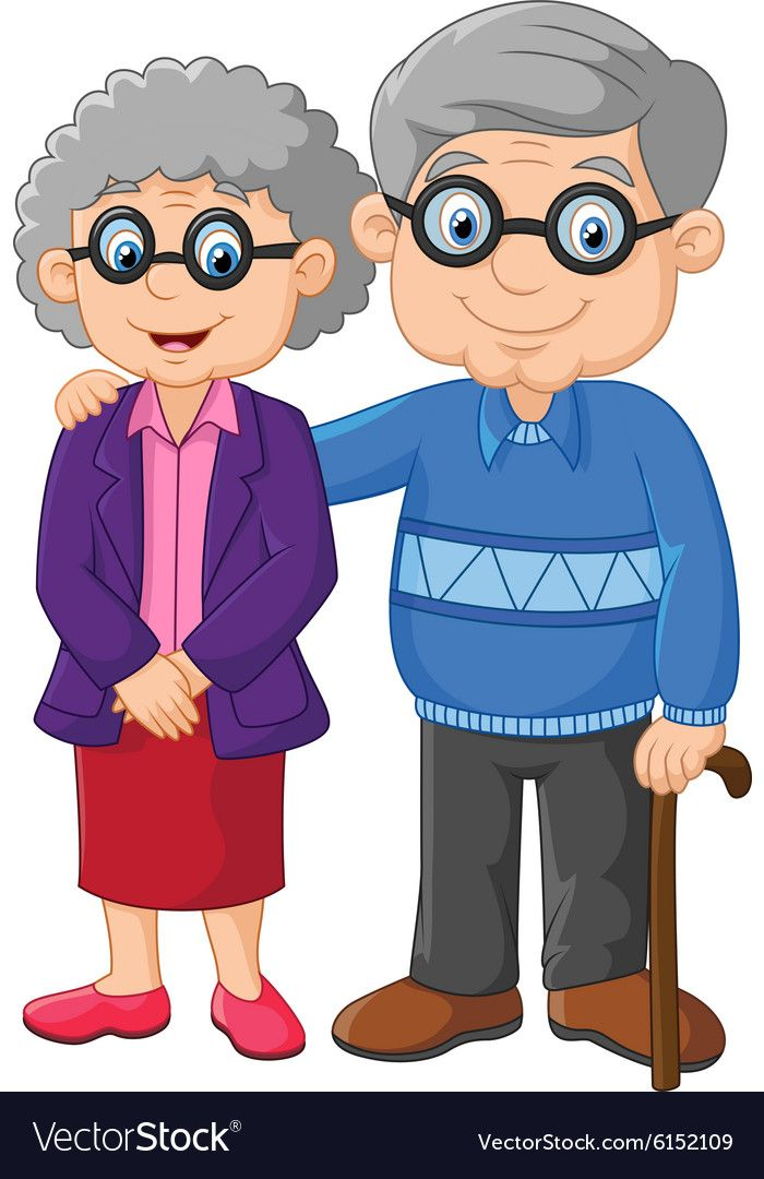 Illustration Of Cartoon Elderly Couple Isolated On White Background Download A Free Preview Or High Quality Adobe Illustrator Ai Eps P การ ต น อน บาล พ อแม