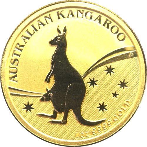 Moneda onza de oro 100$ Australia Canguro 2009. Proof.