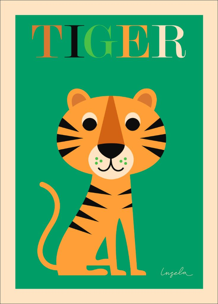 Ingela Tijger poster 50x70  Ingela Peterson Arrhenius